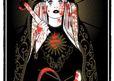 nuestra senora de la justicia inmisericorde Serigrafia-Silkscreen 3 tintas 2013