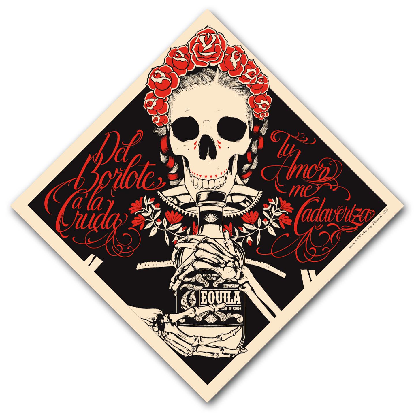 tu amor me cadaveriza Serigrafia-Silkscreen 2 tintas 2015